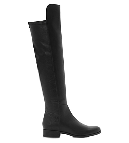 DUNE Trish leather over-the-knee boots (Black-leather