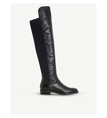 DUNE Tarrin stretch-panel over-the-knee boots (Black-leather