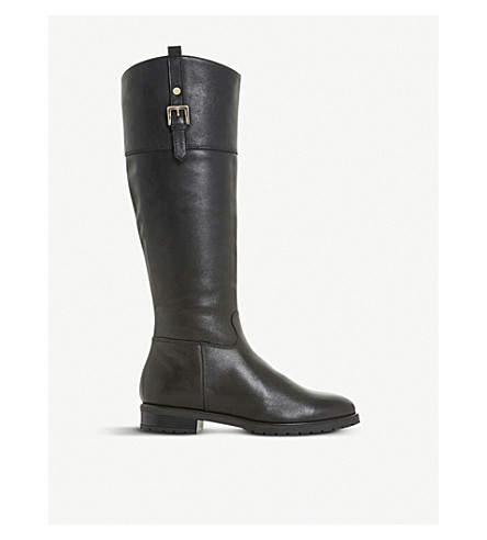 DUNE Vine leather riding boots (Black-leather