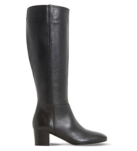 DUNE Tarak leather boots (Black-leather