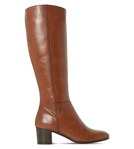 DUNE Tarak leather boots (Tan-leather