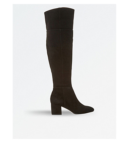 DUNE Spears knee-high suede boots (Black-suede