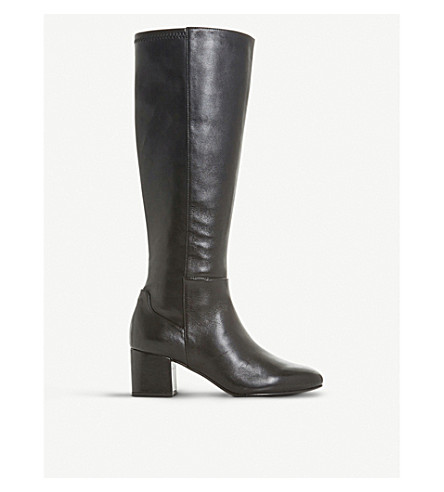 DUNE Salza leather knee-high boots (Black-leather