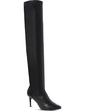 DUNE Shock over-the-knee leather boots