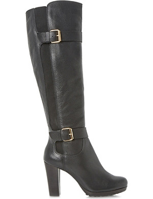 DUNE Social leather knee-high boots