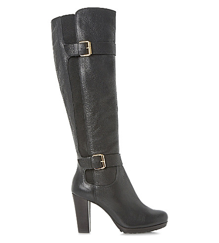 DUNE Social leather boots (Black-leather
