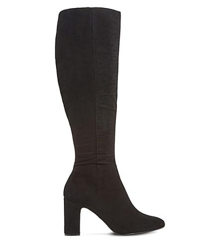 DUNE Sandler knee-high suede boots (Black-suede