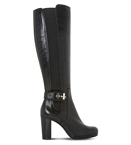 DUNE Scout leather thigh-high boots (Black-leather