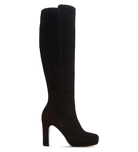 DUNE Saylor suede knee-high boot (Black-suede