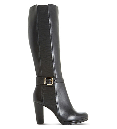 DUNE Sebb knee-high leather boots (Black-leather