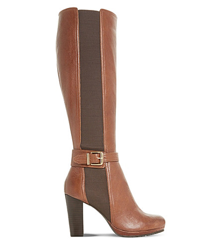 DUNE Sebb buckled leather boots (Tan-leather