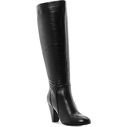 DUNE Sip leather knee-high boots (Black-leather