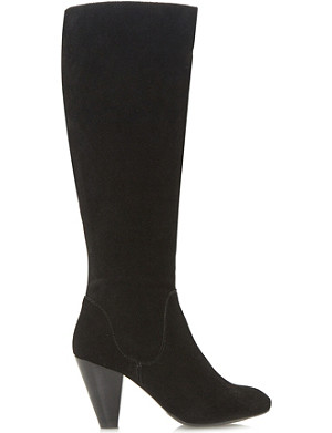 DUNE Sippa heeled knee-high boot
