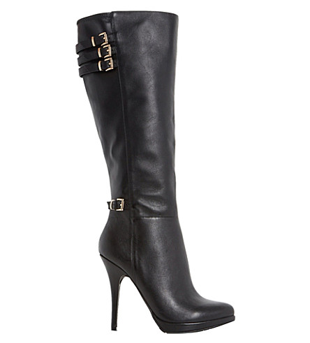 dune snitchee leather knee high boots selfridges