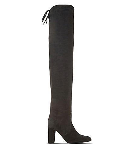 DUNE Sibyl suede over-the-knee boots (Black-suede