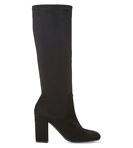 DUNE Under the knee stretch boot (Black-suede