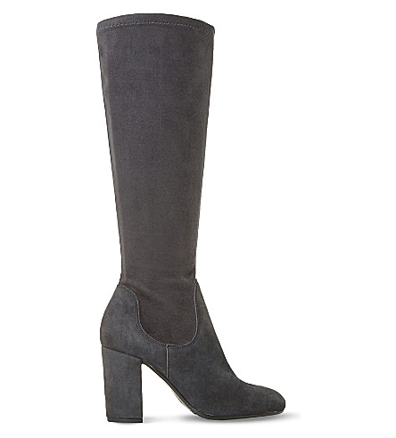 DUNE Under the knee suede stretch boot (Grey-suede