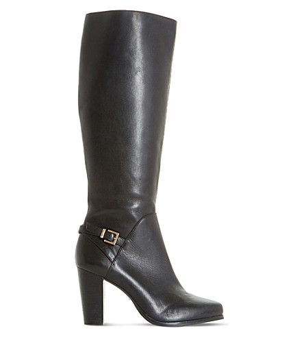 DUNE Samuelle knee-high boots (Black-leather