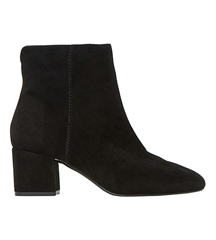DUNE Olyvea suede ankle boots (Black-suede