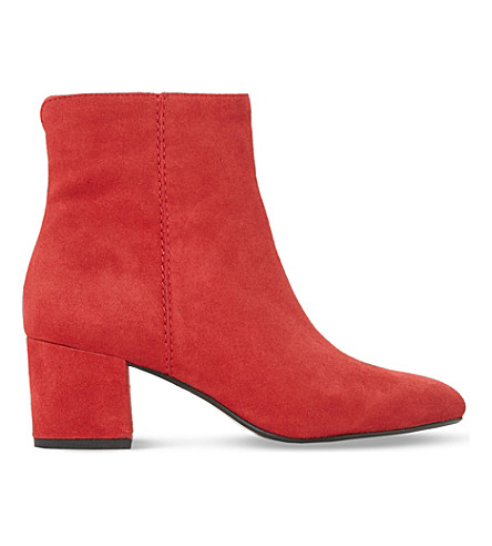 DUNE Olyvea suede ankle boots (Red-suede