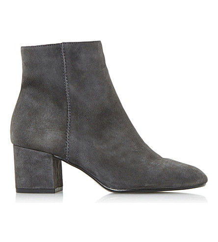 DUNE Olyvea suede ankle boots (Grey-suede