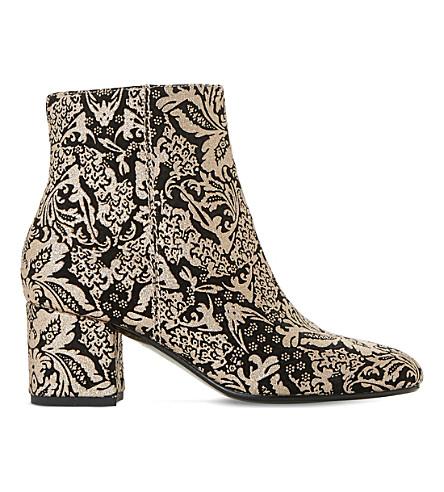DUNE Olexa brocade ankle boots (Black-suede