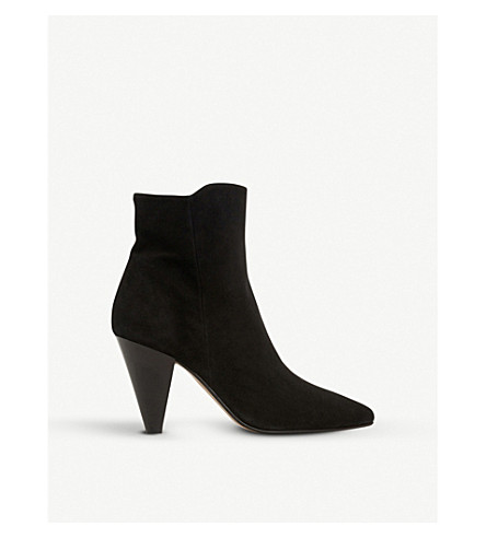 DUNE Odell cone-heel ankle boots (Black-suede