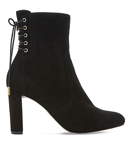 DUNE Octagon suede ankle boots (Black-suede