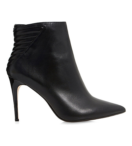 DUNE Ona black leather ankle boots (Black leather