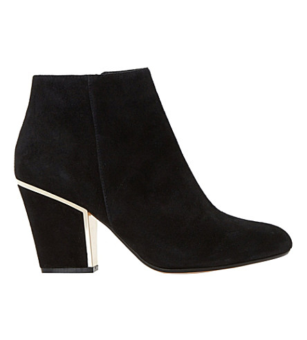 DUNE Olsenn suede ankle boots (Black-suede