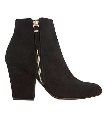 DUNE Orla suede ankle boots (Black suede