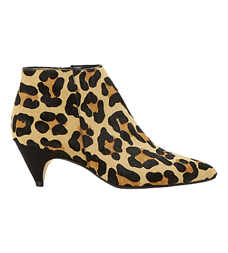 DUNE Ophelia animal-print boots (Leopard-pony