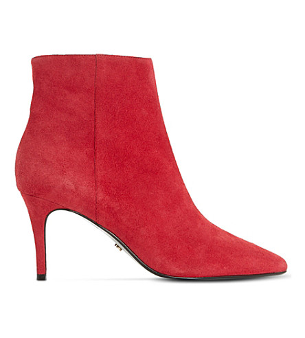 DUNE Osha suede ankle boots (Red-suede