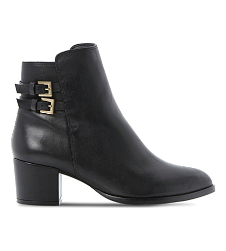 DUNE Nima block heel ankle boots (Black leather