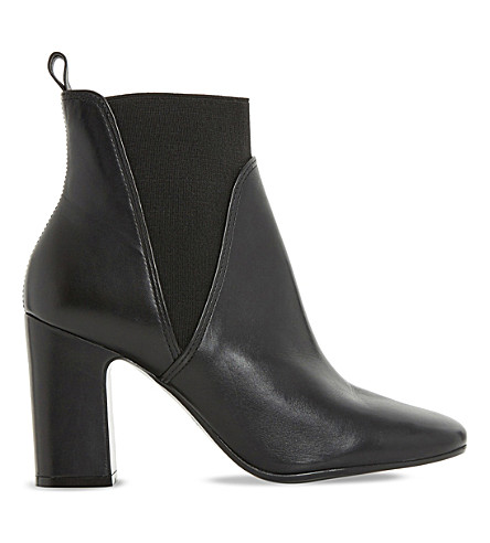DUNE Ohio leather heeled Chelsea boots (Black-leather