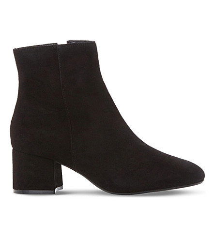 DUNE Packham suede heeled ankle boots