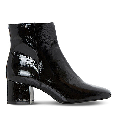 DUNE Packham patent leather ankle boots (Black patent