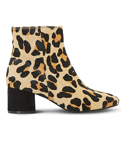 DUNE Packham leather ankle boots (Leopard-leather