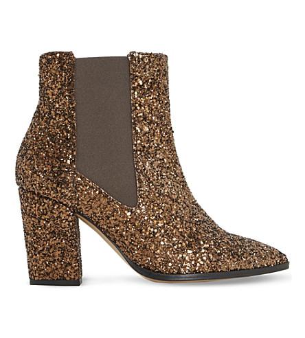 DUNE Order glitter chelsea boots (Bronze-glitter