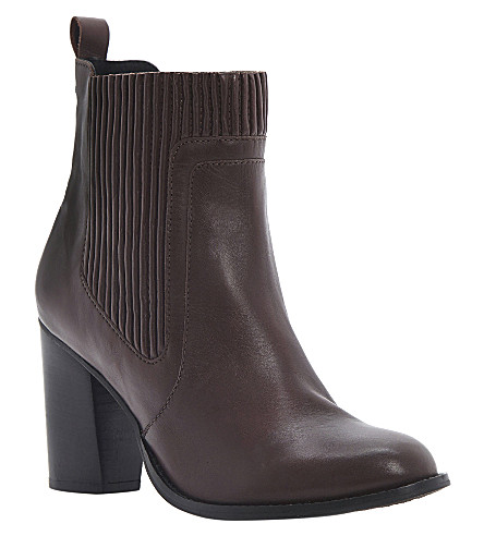 DUNE Natties leather ankle boots (Burgundy-leather