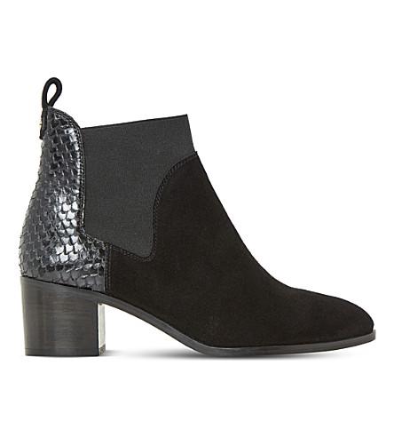 DUNE Oprentice suede chelsea boots (Black-suede