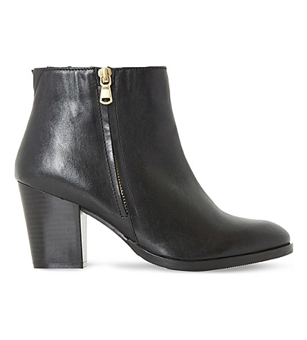 DUNE Powars leather ankle boots (Black-leather