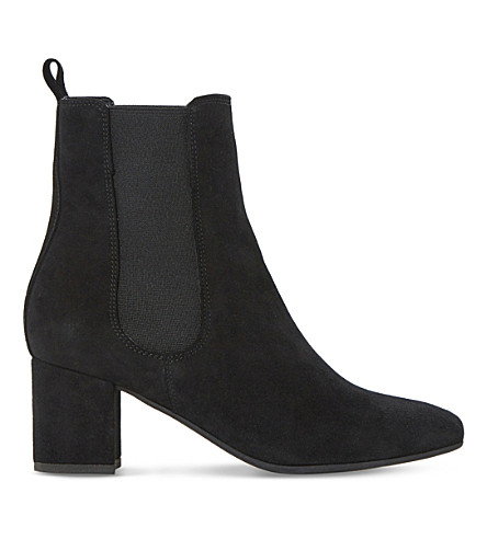 DUNE Ola suede chelsea boots (Black-suede