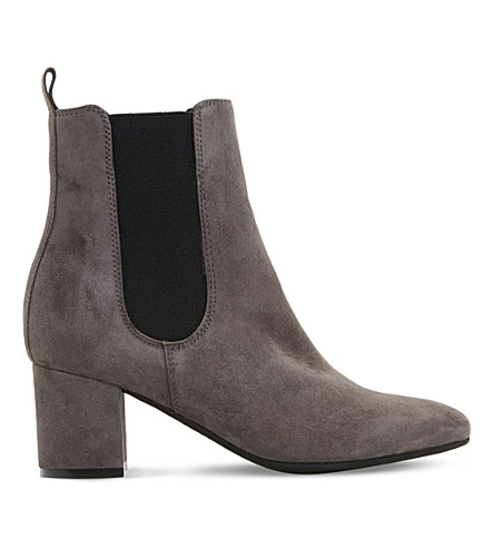 DUNE Ola suede chelsea boots (Grey-suede