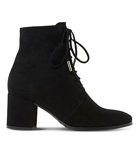 DUNE Olita suede ankle boots (Black-suede