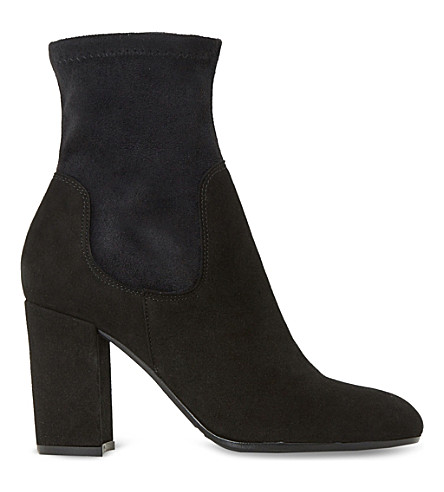 DUNE Oliah suede ankle boots (Black-suede