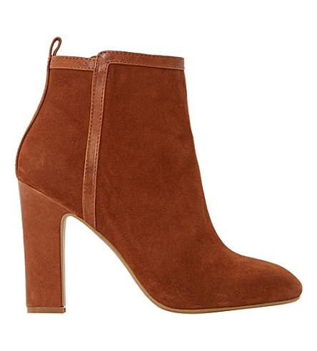 DUNE Oke leather trim ankle boots (Rust-suede