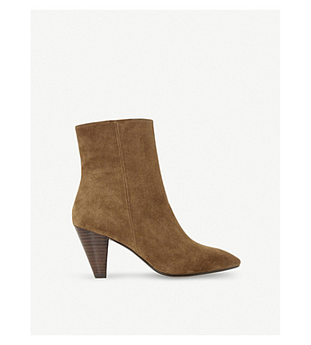 DUNE Perru suede heeled ankle boots (Tan-suede