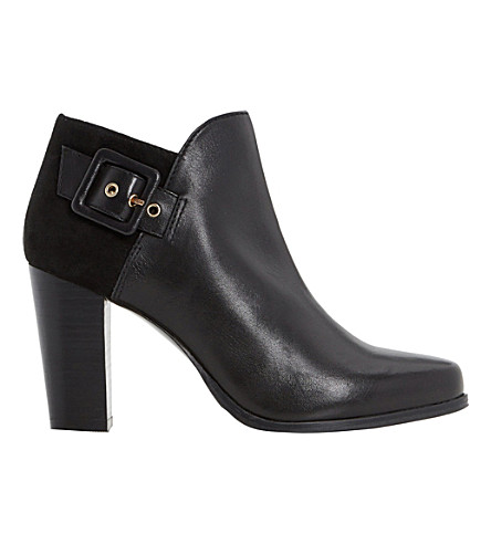 DUNE Oaklee leather boots (Black-leather+mix