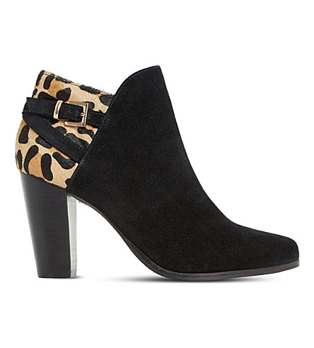 DUNE Oak suede ankle boots (Black-suede
